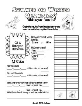 Olympics Math Worksheet