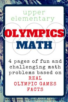 Olympics Math for Upper Elementary