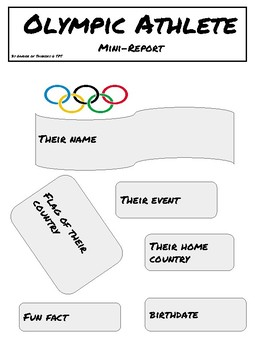 Olympics Mini Biography Poster Report