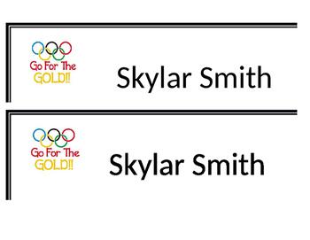 Olympics Name Tags