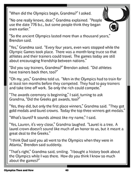 Olympics Now and Then