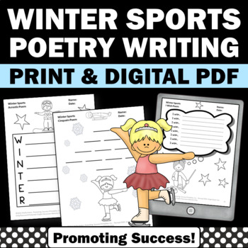 Types Of Poetry Unit For 6th Grade Winter Sports Theme Print And Go