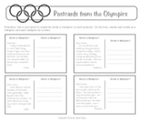 Olympics Postcards Similes and Metaphors (Figurative Language)