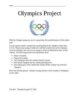 Olympics Project