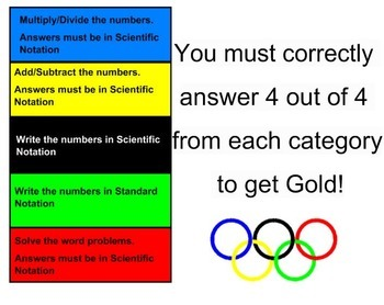 Olympics Scientific Notation Review