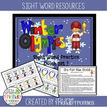Literacy Center Game - Olympics Sight Word Games