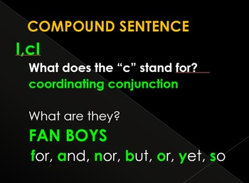 Olympics - Compound Sentences Review - Powerpoint Review & Game, Notes, & Quiz