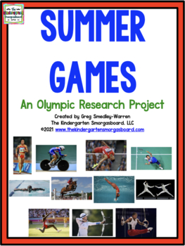Olympics!  Summer Games Research Project With Math And Lit
