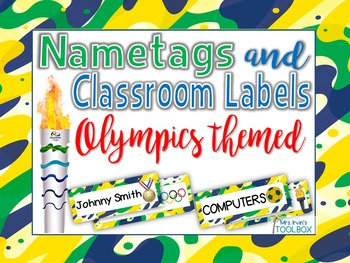 Olympics Themed Nametags and Classroom Labels