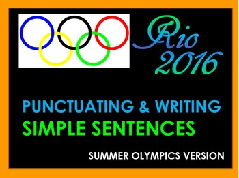 Olympics - Simple Sentences Review - Powerpoint Review & G