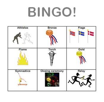 Olympics Vocabulary BINGO!