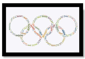 Olympics Vocabulary image for Classroom Decoration Poster or Sign