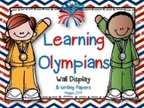 Learning Olympians Wall Display with Caption, Signs, and Writing Paper