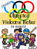 Olympics Welcome Notes for Students