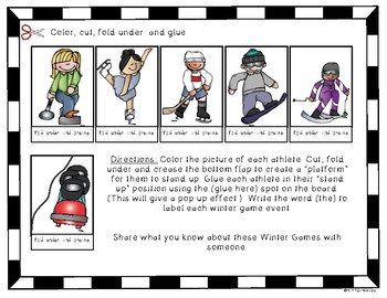 Olympics Winter Games {Pop Up} Fun Activity for Young Students
