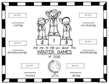 Winter Games {Pop Up} Fun Activity for Young Students
