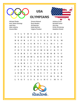 Olympics Wordsearch - FREE Word Searches based on the Rio Olympics