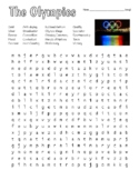 Olympics - Wordsearch w/ KEY & Quotes from Olympians & Zen