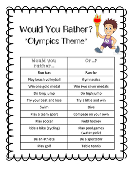 Olympics Would You Rather Game