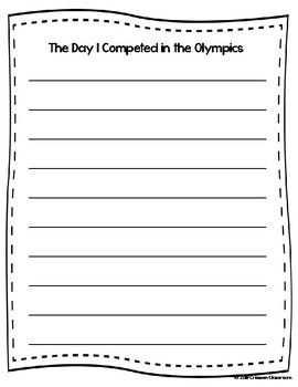 Olympics Writing Activity