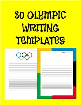 Olympics Writing Templates