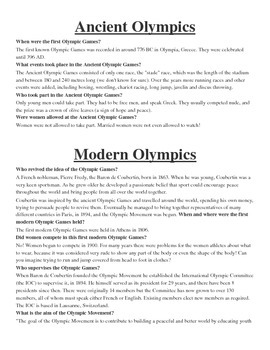 Olympics (ancient, modern, and winter)