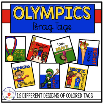 Olympics and Sports Themed Brag Tags- Classroom Management Tool