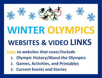 Olympics for Kids FREE: Links to Activities, History, Printables, Current Events