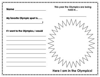 Olympics - writing