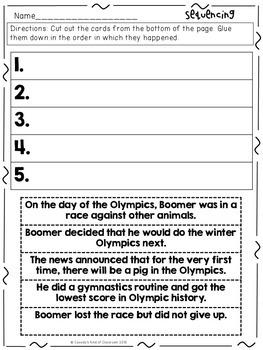 Olympig! Book Activities