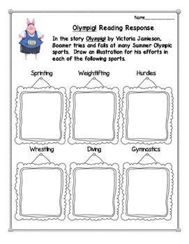 Olympig! Reading Response Activities