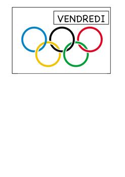 Olympique Jours de la Semaine