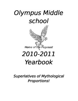 Olympus Middle School Yearbook (Greek Mythology Character Activity)