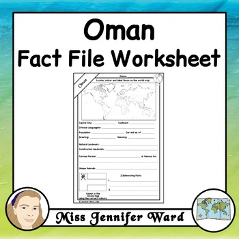 Oman Fact File Worksheet