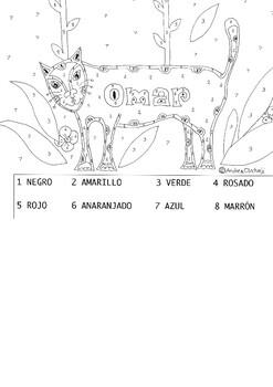 Omar, el jaguar color by code page