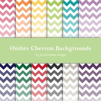Ombre Chevron Background Package