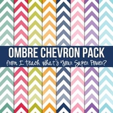 Ombre Chevron Digital Paper Pack