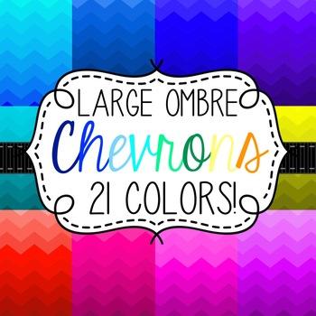 Ombre Chevron Digital Paper Pack- 21 Colors