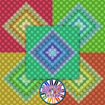 Ombre - Diamond - Polka Dots - Gradient Digital Paper Backgrounds