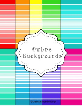 Ombre Digital Paper  {20 papers 8.5x11}