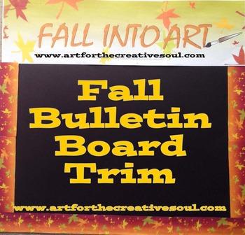 Ombre Fall Bulletin Board Trim