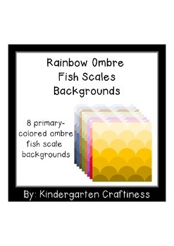 Ombre Fish Scales Backgrounds
