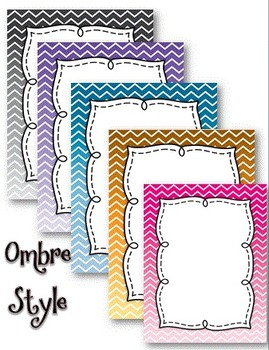 Ombre Full Page Labels, Binder/Notebook or Journal Covers