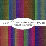 Ombre Glitter Papers