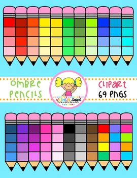 Ombre Pencils Clipart
