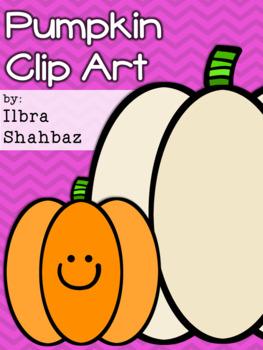 Ombre Pumpkins Clipart {FREE}