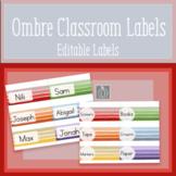 Ombre Rainbow Classroom Labels