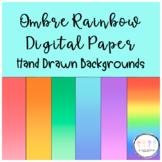 Ombre Rainbow Digital Paper & Backgrounds for Google Slide