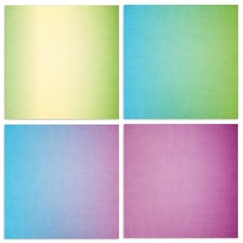Ombre Rainbow Digital Papers - Colourful Rainbow Gradients - Digital Cardstock