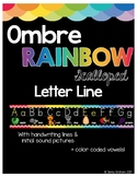 Ombre Rainbow Scalloped Letter Line